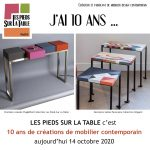 Les Pieds Sur La Table c'est 10 ans de création de mobilier contemporain sur mesure