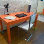bureau connecté couleurs sur mesure orange Co-Pied mobilier Les Pieds Sur La Table