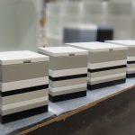 coffres de rangement laqué blanc beige noir Group Pied mobilier Les Pieds Sur La Table réalisation maison