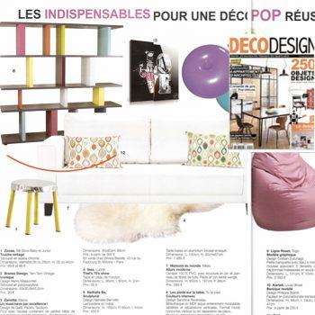 Etagère graphique Tu-Lis-Pied dans Deco Design fevrier 2012, mobilier design modulable sur mesure et coloré Les Pieds Sur La Table