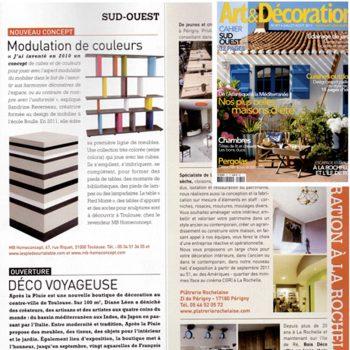 Bibliothèque modulable Tu-Lis-Pied dans Art et Décoration août 2011, mobilier design modulable sur mesure et coloré Les Pieds Sur La Table