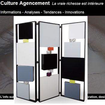 paravent design pour open space dans Culture agencement. Modèle Tournis-Pied paravent sur mesure acier, laque. Création et fabrication mobilier design Les Pieds Sur La Table