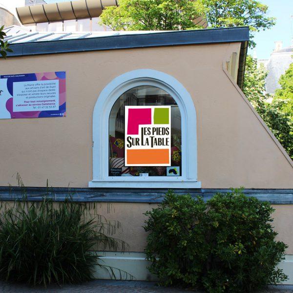 Juin 2019 Boutique éphémère Rueil-Malmaison : Exposition vente Mobilier contemporain design Les PIeds Sur La Table créateur et fabricant