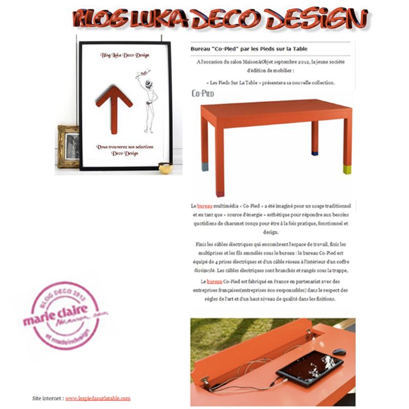 Bureau design multimédia blog design Luka. Les Pieds Sur La Table