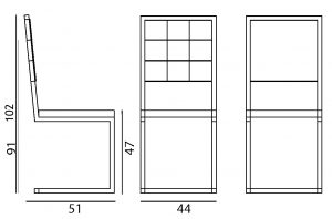 chaise de repas design à dossier haut Pied-Tine par Les Pieds Sur La Table