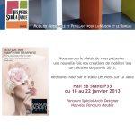 Nouvelle collection de meubles modulables sur mesure et colorés Les Pieds Sur La Table au salon Maison&Objet janvier 2013, créations de meubles
