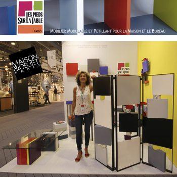 Nouveaux meubles modulables et colorés Les Pieds Sur La Table au salon Maison&Objet septembre 2016