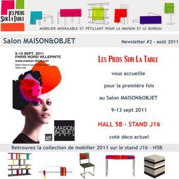 Première collection de meubles Les Pieds Sur La Table présentée au salon Maison&Objet Paris septembre 2011