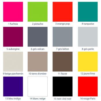 Couleurs de mobilier Les Pieds Sur La Table : palette de 16 laques pour les meubles design Les Pieds Sur La Table