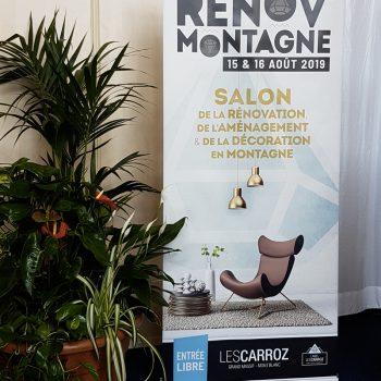 Mobilier contemporain design Les PIeds Sur La Table créateur et fabricant de meubles contemporains sur mesure expose au Salon de la Décoration en Montagne Les Carroz proche Genève et Chamonix, en direct