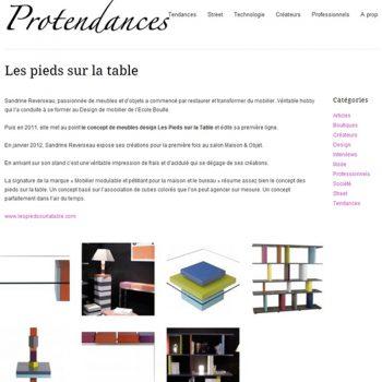 Mobilier design en couleurs dans Protendances. Meubles design modulables sur mesure et colorés Les Pieds Sur La Table