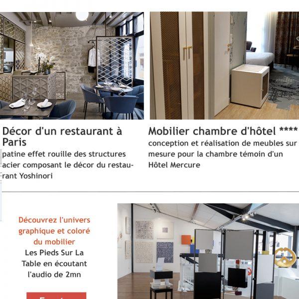 Newsletter janvier 2018 Voeux Mobilier design modulable Les Pieds Sur La Table suite