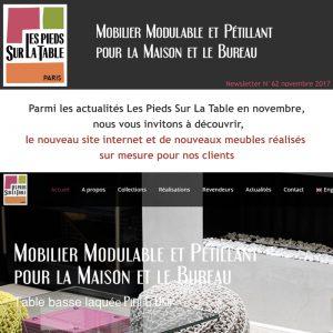 Newsletter Nov 2017 Nouveau Site Internet Les Pieds Sur La Table