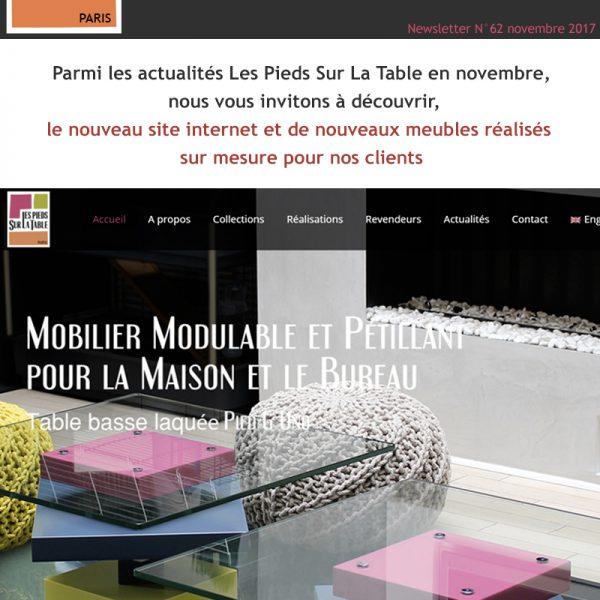 nouveau site internet mobilier Les Pieds Sur La Table