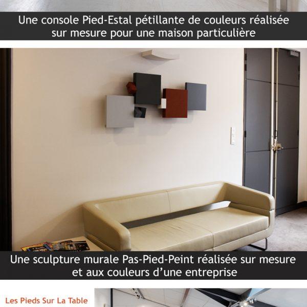nouveau site internet mobilier Les Pieds Sur La Table et réalisations