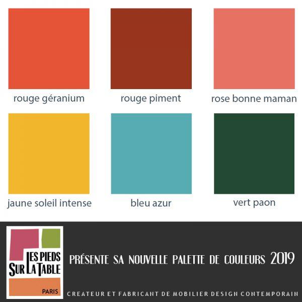 Nouvelles couleurs de laque contemporaine sur meubles design sur mesure Les Pieds Sur La Table créateur et fabricant de meubles modernes sur mesure -UNE