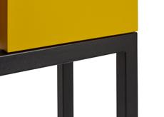Finition pied acier thermolaqué noir grainé- Console design Mobilier Les Pieds Sur La Table