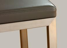 Finition pied inox brossé Chaises design Mobilier Les Pieds Sur La Table