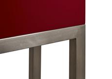 Finition pied inox brossé Console design Mobilier Les Pieds Sur La Table