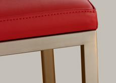 Finition pied inox brossé poli Chaises design Mobilier Les Pieds Sur La Table
