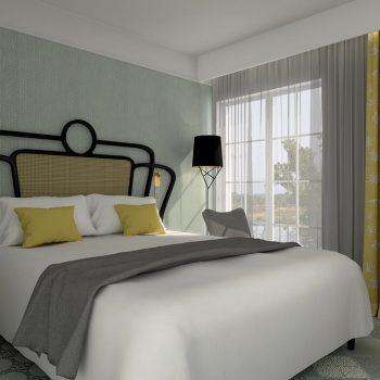 Mobilier sur mesure chambre temoin Hôtel Mercure-mobilier-Les-Pieds-Sur-la-Table-3D agence