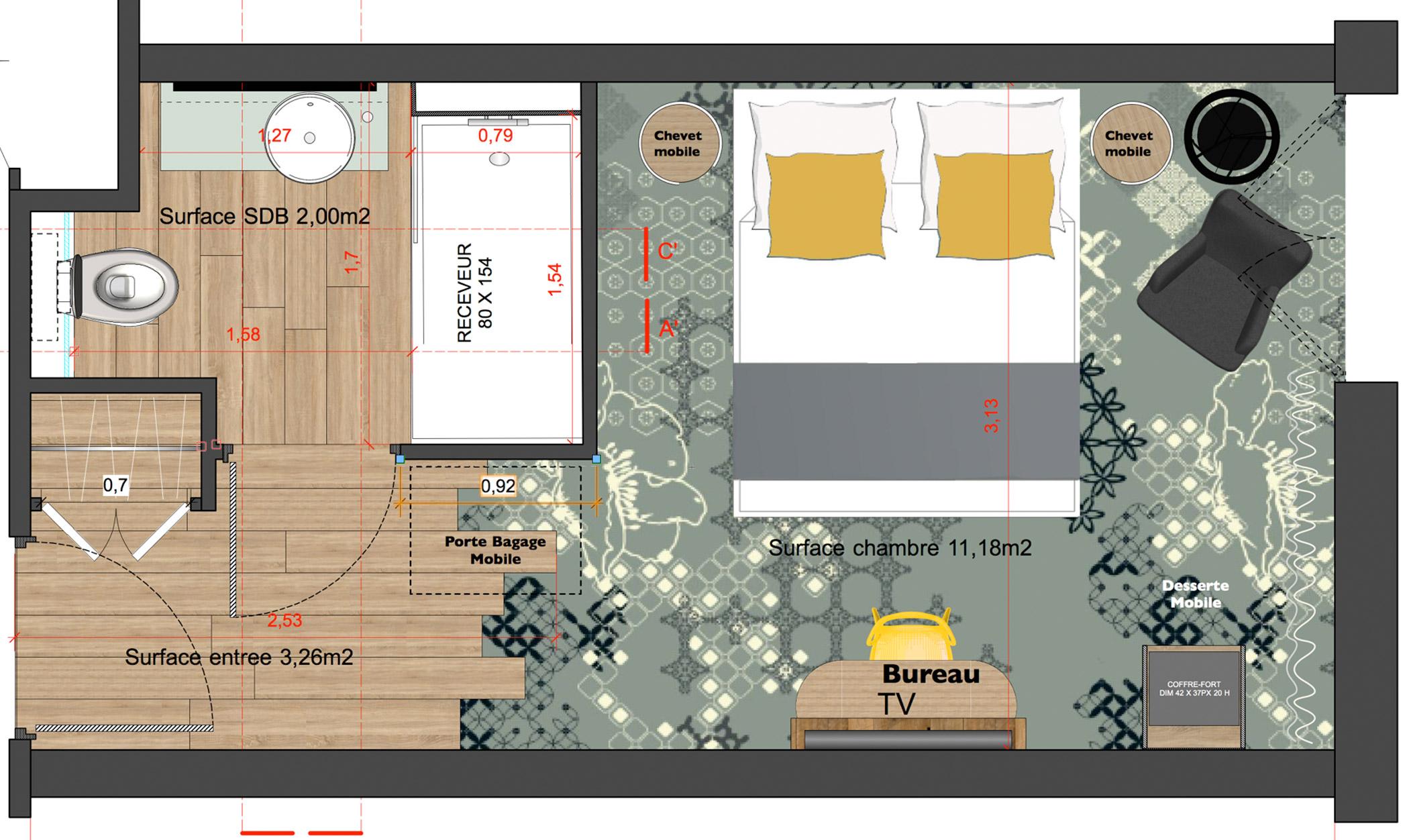 mobilier sur mesure chambre t moin h tel mercure les pieds sur la table. Black Bedroom Furniture Sets. Home Design Ideas