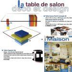 Table basse design en couleurs dans Esprit Maison. Tables basses Pied-G design mobilier modulable sur mesure et coloré Les Pieds Sur La Table