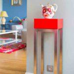 console connectée design rouge Plug and Pied mobilier Les Pieds Sur La Table réalisation maison