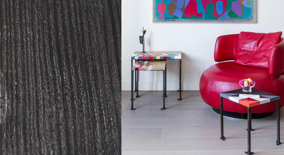 Tables basses bois motif origami gigognes Panorama S-M-L-modernes-laque-bois-massif-acier Design-Sandrine-Reverseau