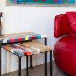 Duo Tables basses origami gigognes Panorama-S-M-L-modernes-laque-bois-massif-acier-Design-Sandrine-Reverseau-Collection Origami Mobilier-Les-Pieds-Sur-La-Table