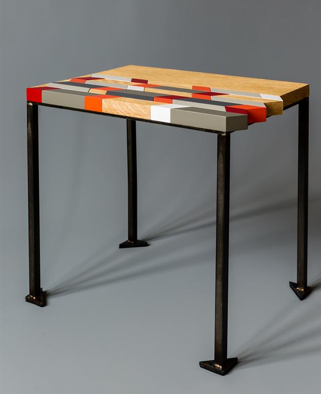 Table basse design origami bois et couleurs Mobilier-Les-Pieds-Sur-La-Table