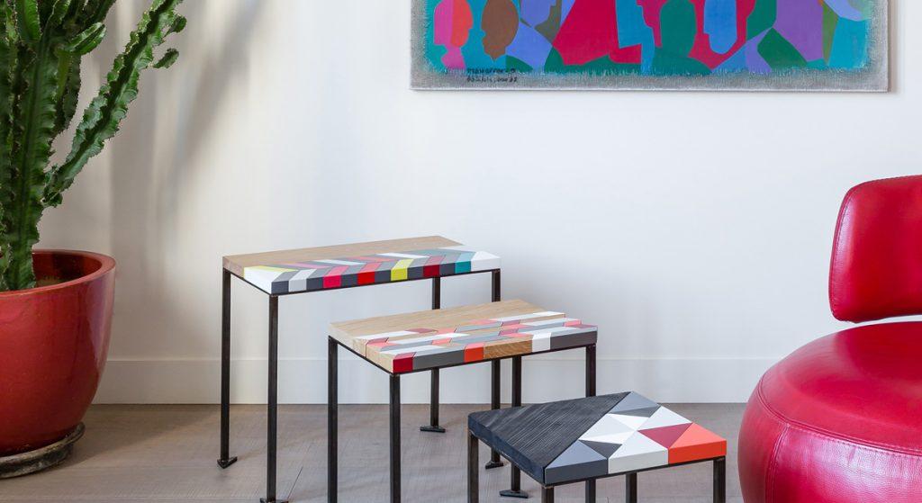 Tables basses origami gigognes Panorama-S-M-L-modernes-laque-bois-massif-acier-Design-Sandrine-Reverseau-Collection Origami Mobilier-Les-Pieds-Sur-La-Table-accueil