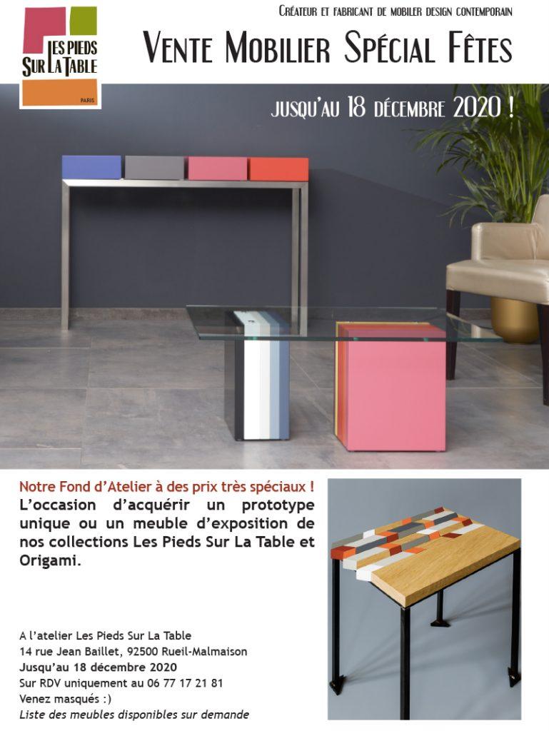 Vente spéciale fêtes Mobilier contemporain Les Pieds Sur La Table Paris. Meubles pièces uniques et prototypes de collection à prix spécial