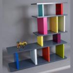 bibliothèque étagère modulable sur mesure multicolore Le Pied mobilier Les Pieds Sur La Table modèle original