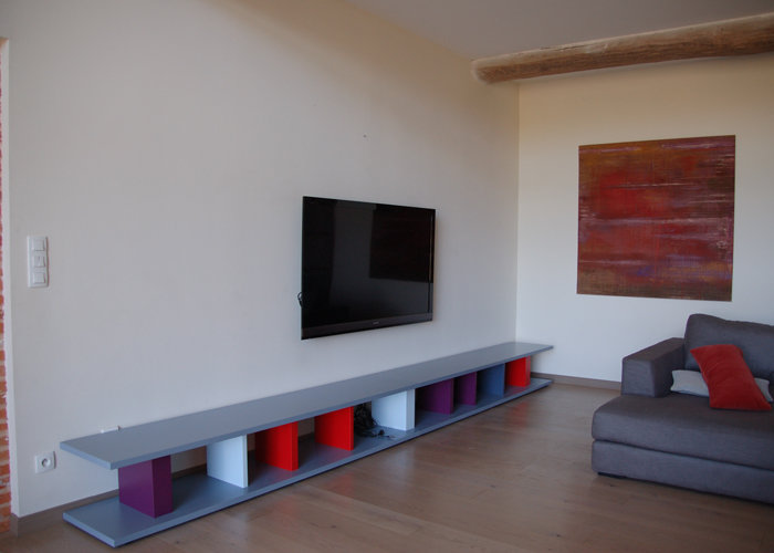 emejing meubles tv modulables contemporary. Black Bedroom Furniture Sets. Home Design Ideas