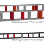 meuble télé étagère modulable sur mesure et couleurs Pied ciné mobilier modulable Les Pieds Sur La Table croquis