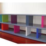 meuble télé étagère modulable sur mesure Pied ciné mobilier modulable Les Pieds Sur La Table réalisation maison