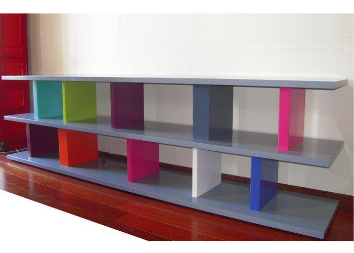 meuble télé étagère modulable sur mesure et couleurs Pied ciné mobilier modulable Les Pieds Sur La Table modèle original