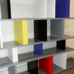 bibliothèque étagère modulable sur mesure couleurs Mondrian Tu Lis Pied mobilier Les Pieds Sur La Table