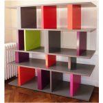 bibliothèque étagère modulable sur mesure couleurs fauve orange Tu Lis Pied mobilier Les Pieds Sur La Table
