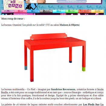 Bureau multimédia orange Co-Pied dans Truc de nana blog octobre 2012, mobilier design modulable sur mesure et coloré Les Pieds Sur La Table