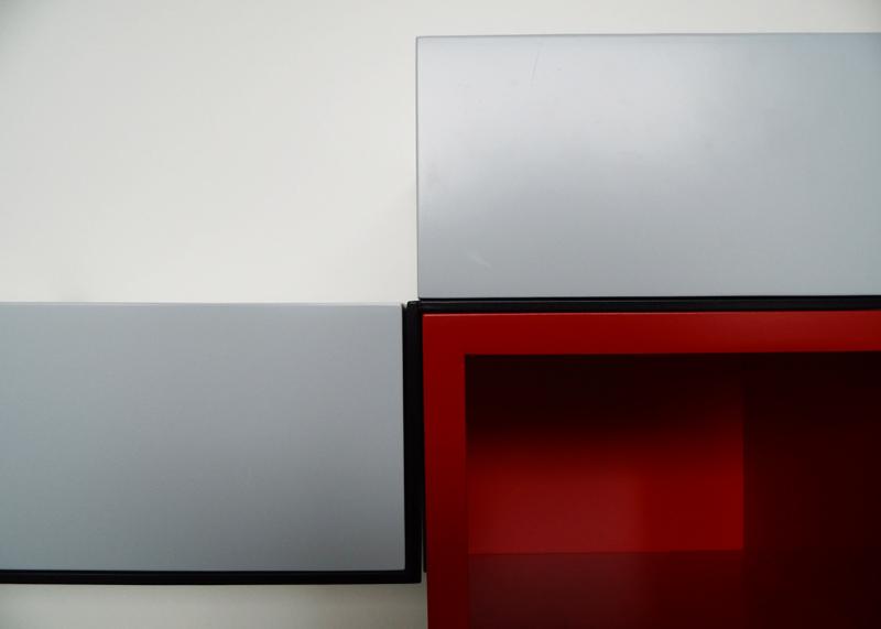 bureau console mural Pas-Pied couleur sur mesure mobilier Les Pieds sur la table detail structure acier