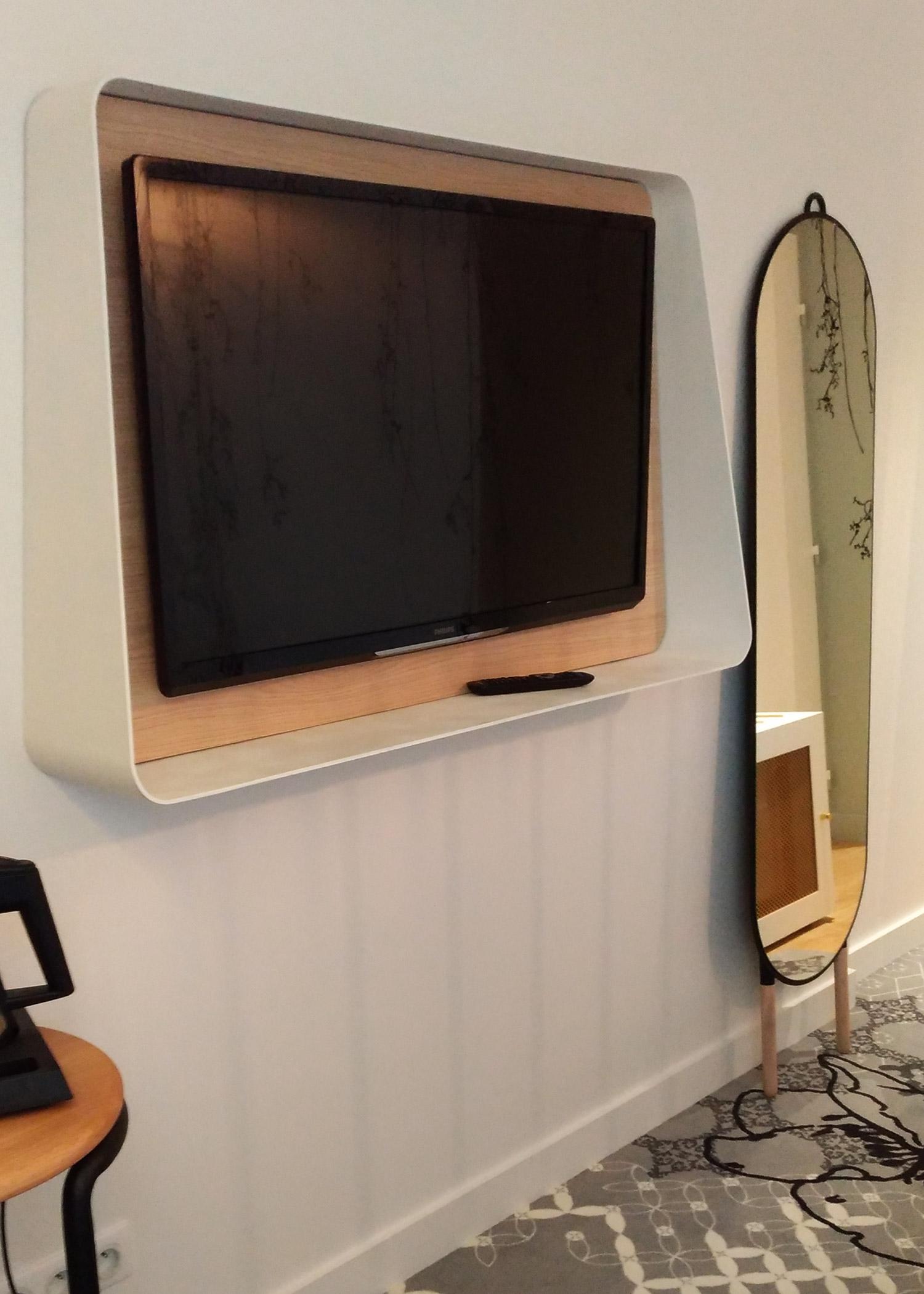 Mobilier Sur Mesure Chambre T Moin H Tel Mercure Les Pieds Sur La  # Meuble A Ecran Plat Dans Une Chambre