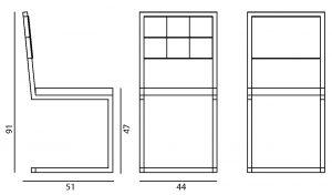 chaise design de repas Pied-Tine par Les Pieds Sur La Table