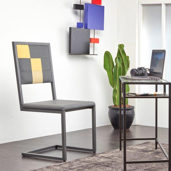 chaise de bureau design moderne sur mesure Pied-Tine avec dosseir haut mobilier Les Pieds Sur La Table