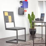 chaise design bureau dossier haut Pied-Tine dossier en damier par Les Pieds Sur la Table