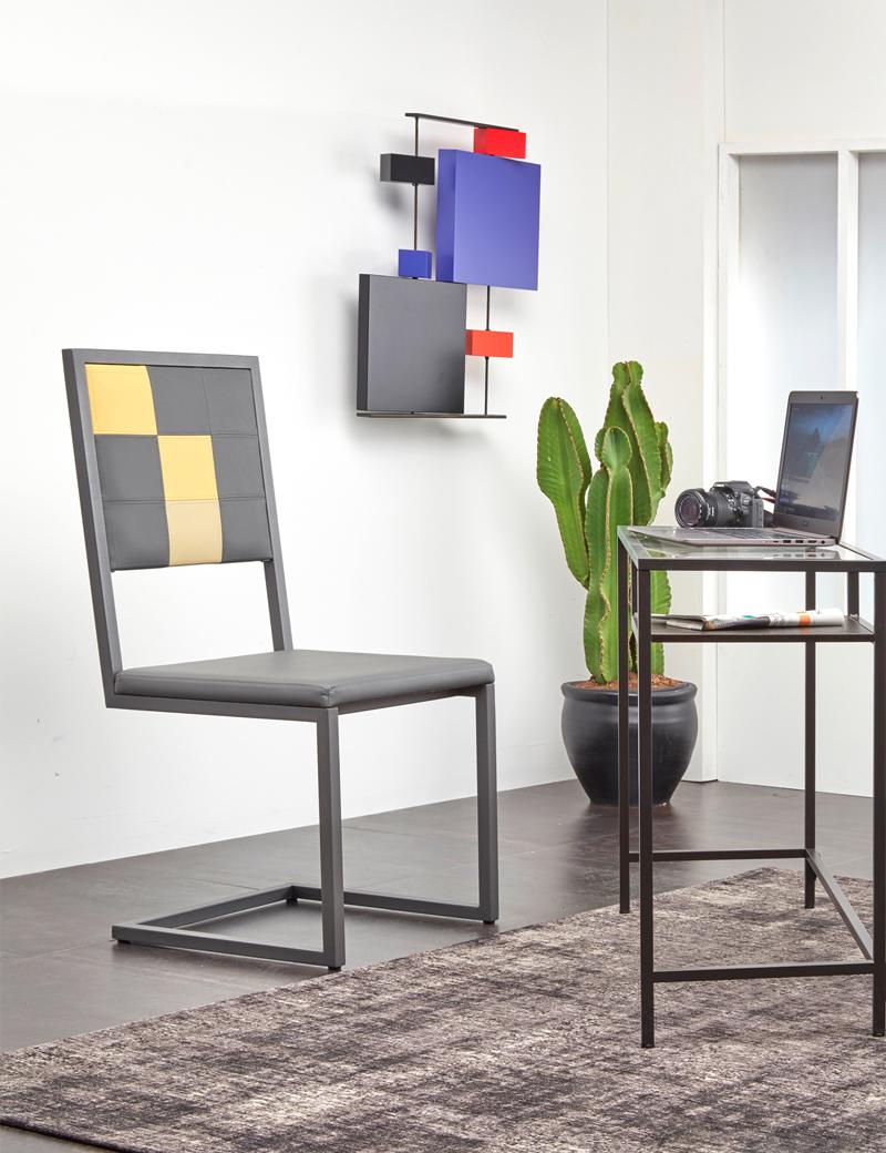 Chaise De Bureau Design Moderne Sur Mesure Pied Tine Avec Dosseir Haut Mobilier Les Pieds