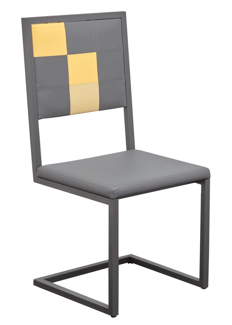 Chaise design dossier haut pied tine mobilier les for La chaise design