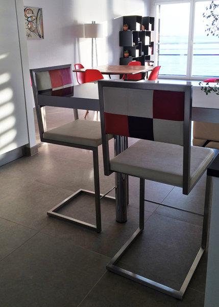 chaise de bar confortable Echass-Pied - Mobilier Les Pieds Sur La Table
