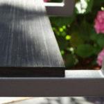 chaise d'extérieur design caoutchouc recyclé Pied-Tine par Les Pieds Sur la Table